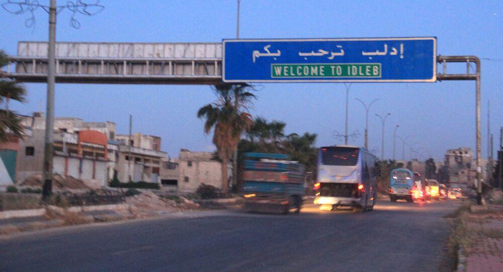 Wjazd do miasta Idlib, Syria