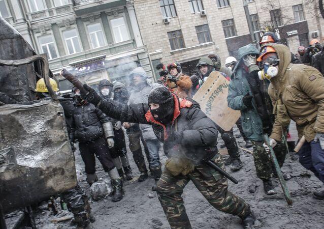 Majdan na Ukrainie