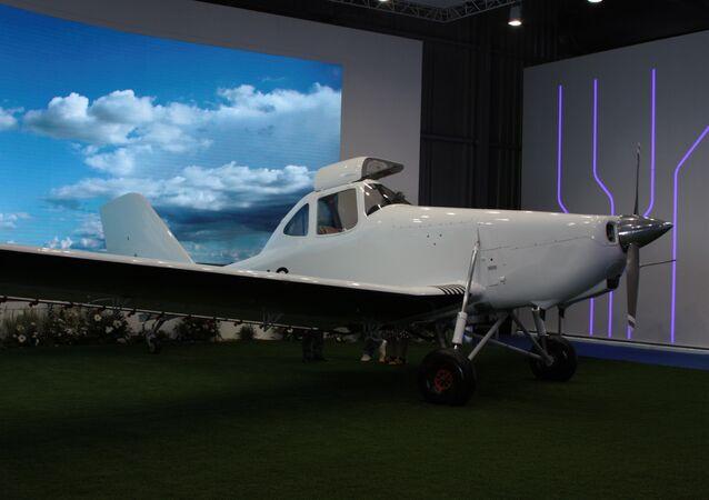 Samolot T-500 na wystawie MAKS-2017