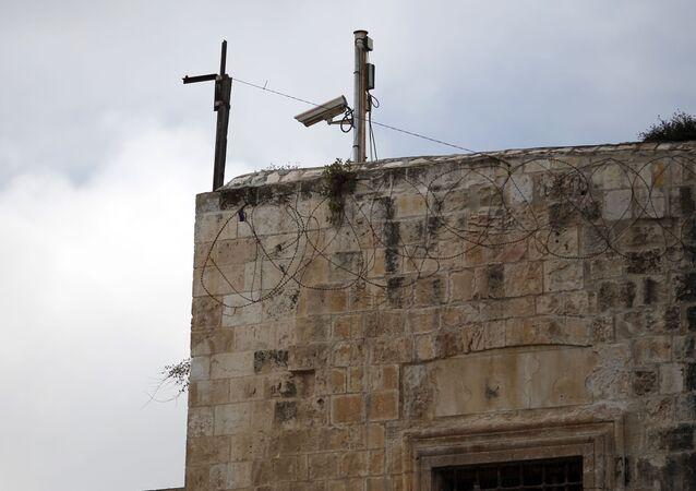 Kamery wideo na Starym Mieście w Jerozolimie