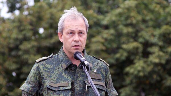 Zastępca dowódcy sztabu operacyjnego DRL Eduard Basurin - Sputnik Polska