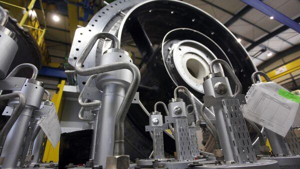 Turbina gazowa, fabryka Siemens w Niemczech - Sputnik Polska