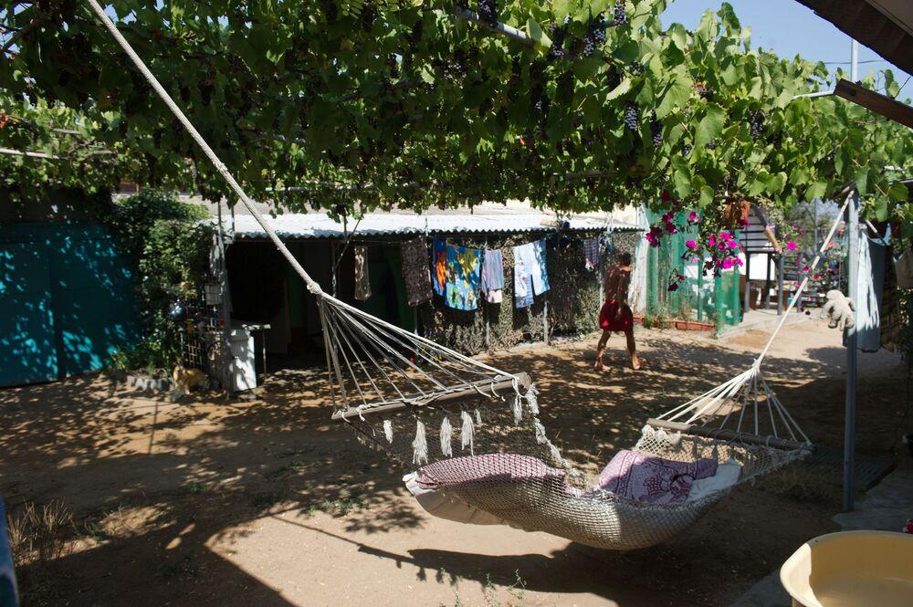 Prywatny sektor dla wczasowiczów we wsi Kurortne