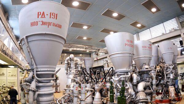 Makieta silnika rakietowego fabryki Energomasz - Sputnik Polska