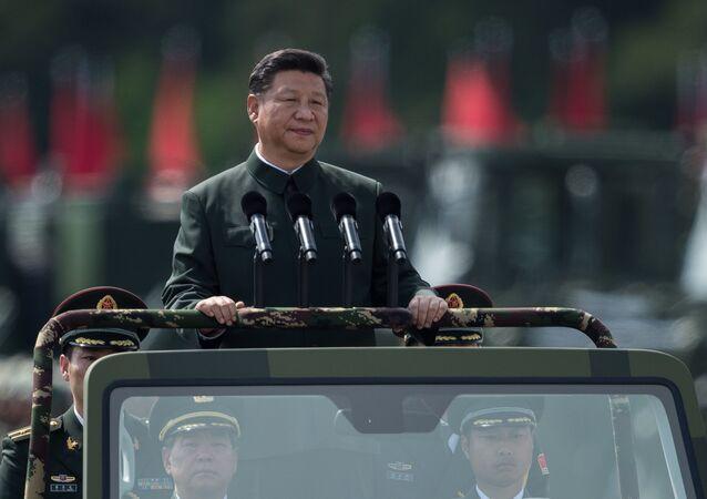 Przegląd wojsk odbył się w niedzielę w bazie wojskowej Zhurihe w prowincji Mongolia Wewnętrzna