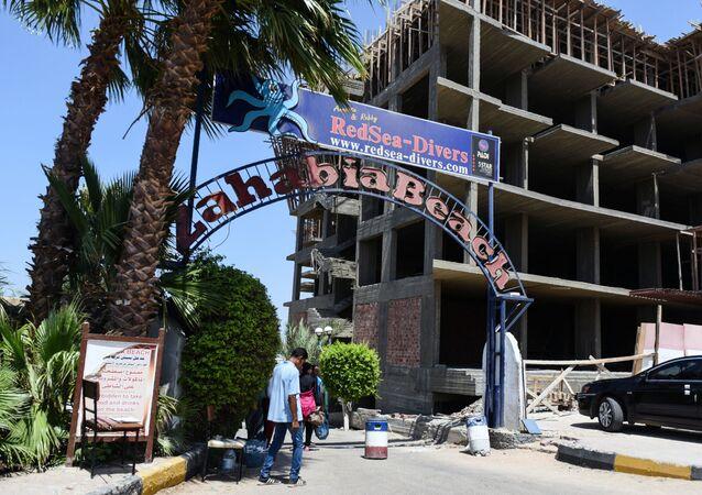 Wejście na plażę w Hurghadzie, na której doszło do ataku