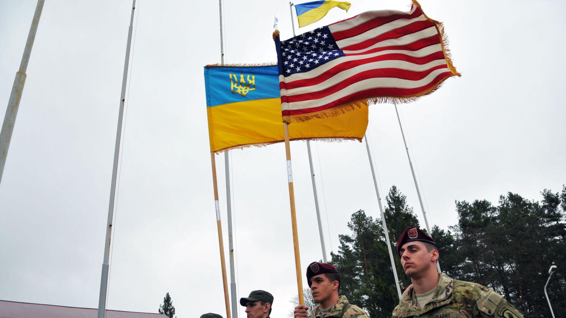 Amerykańscy instruktorzy wojskowi na Ukrainie - Sputnik Polska, 1920, 30.06.2021