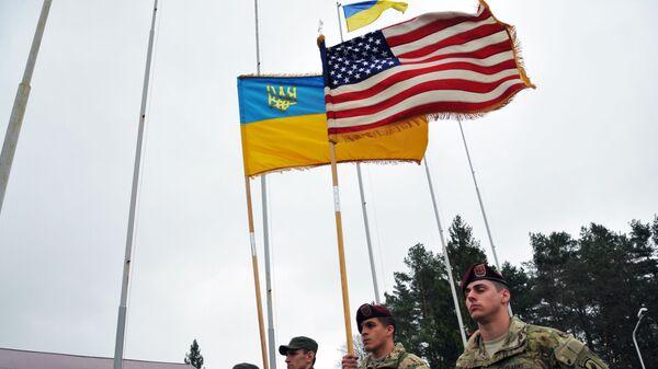 Amerykańscy instruktorzy wojskowi na Ukrainie - Sputnik Polska