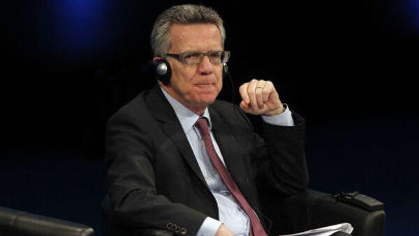 Minister spraw zagranicznych Niemiec Thomas de Maizière - Sputnik Polska