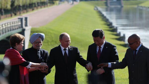 Liderzy krajów BRICS - Sputnik Polska