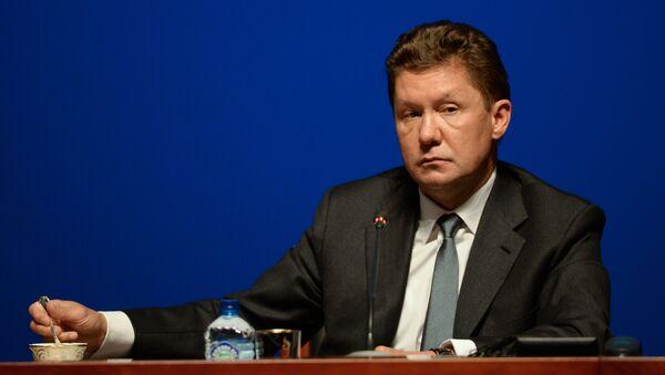 Przewodniczący zarządu Gazpromu Aleksiej Miller na konferencji prasowej spółki - Sputnik Polska