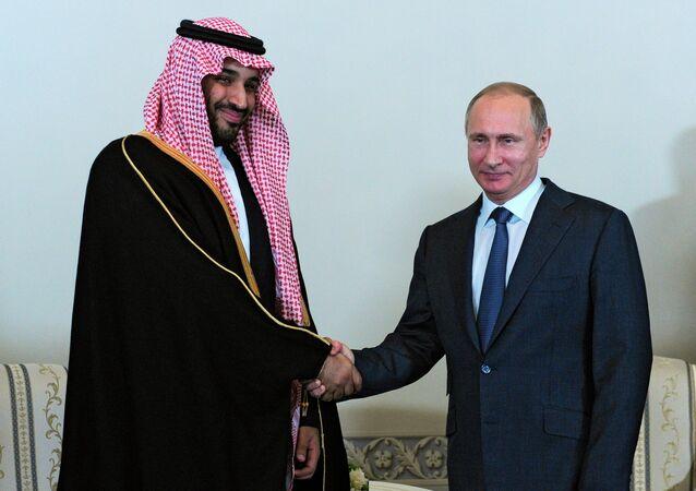 Władimir Putin i  Mohammed ben Salman