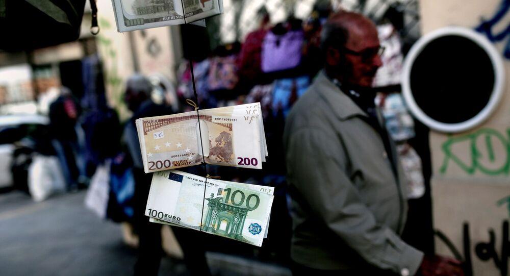 Banknoty euro w Grecji