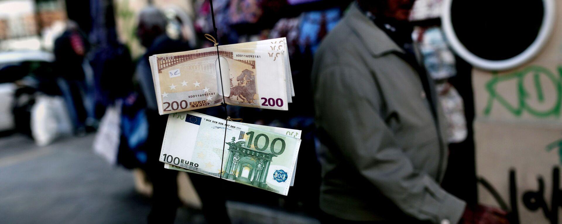 Banknoty euro w Grecji - Sputnik Polska, 1920, 03.09.2021