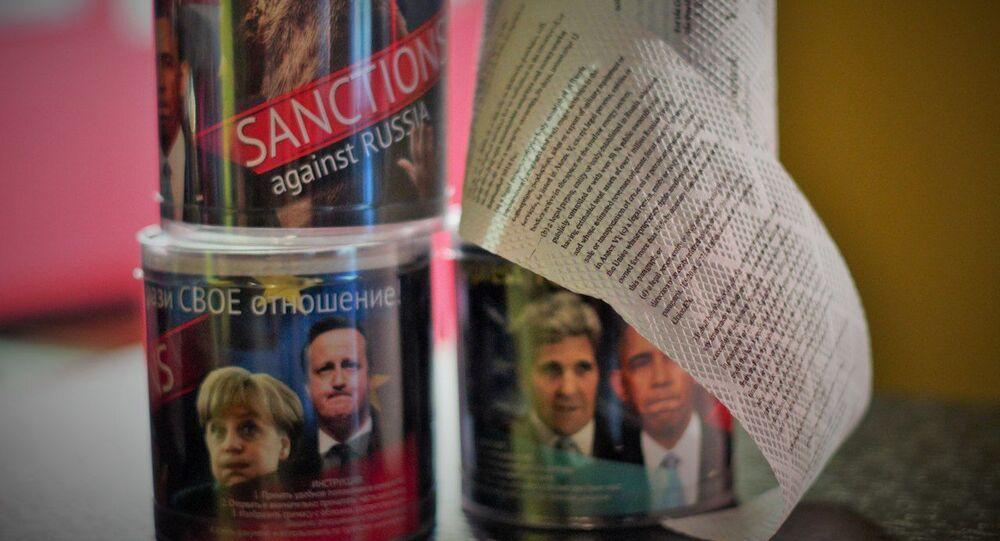 Papier toaletowy z tekstem antyrosyjskich sankcji
