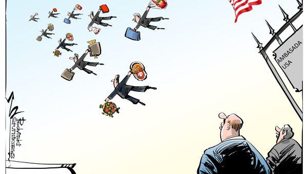 Amerykańscy dyplomaci stracili dostęp do rezydencji i magazynu w Moskwie. - Sputnik Polska