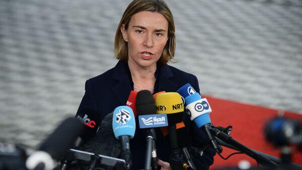 Szefowa dyplomacji unijnej Federica Mogherini - Sputnik Polska