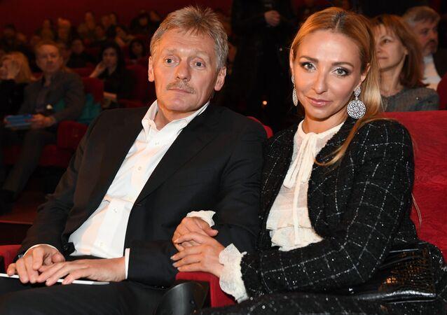 Dmitrij Pieskow z żoną Tatianą Navką