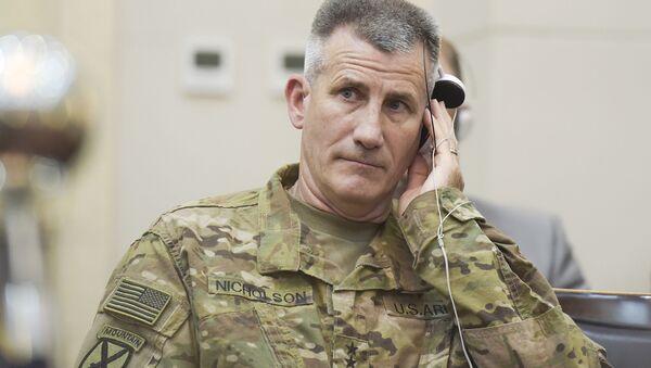 Dowódca amerykańskich wojsk w Afganistanie, generał John Nicholson - Sputnik Polska