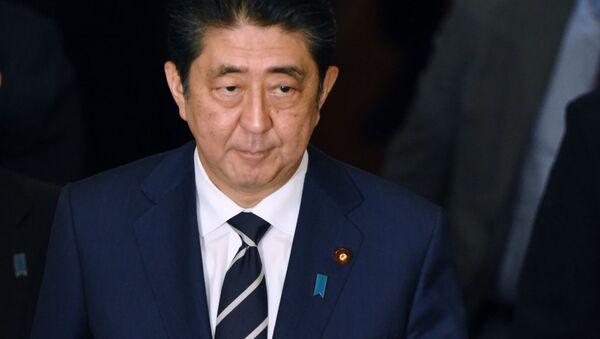 Premier Japonii Shinzo Abe - Sputnik Polska