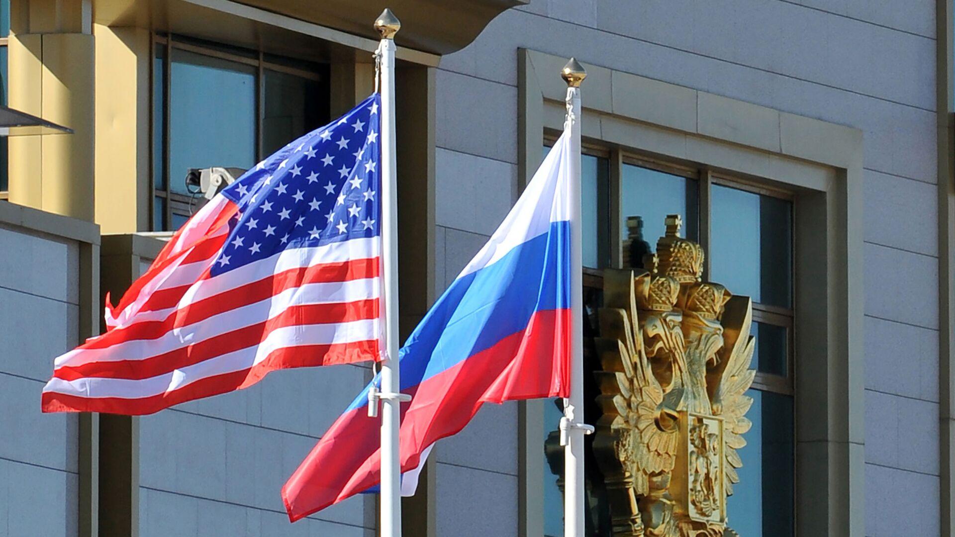 Flagi Rosji i USA - Sputnik Polska, 1920, 25.07.2021