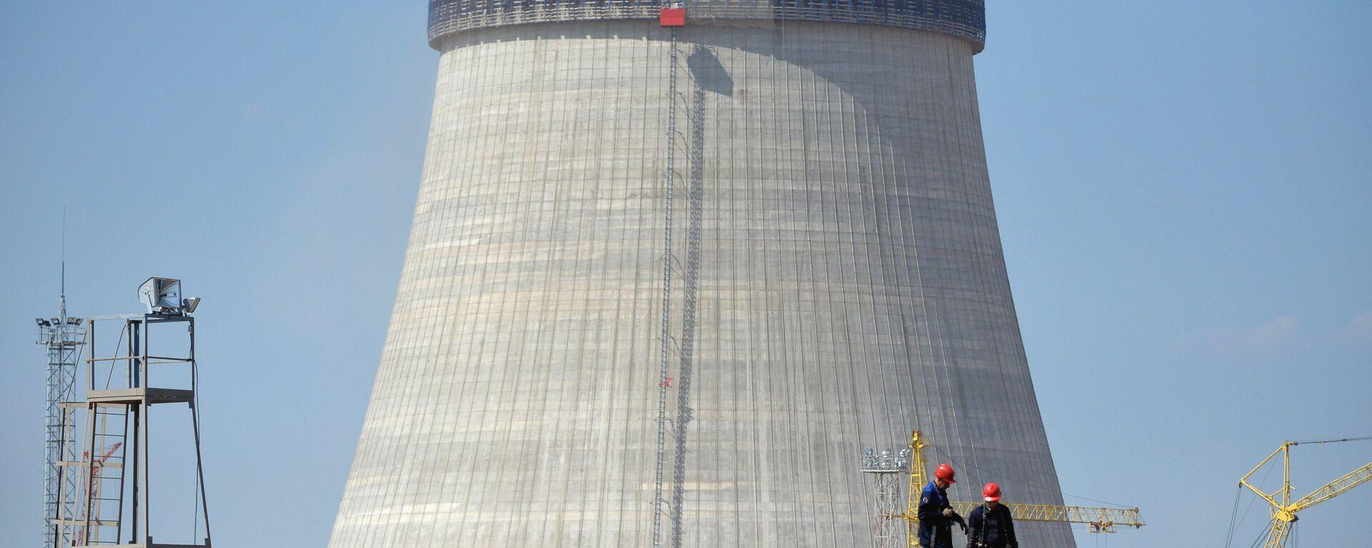 Budowa elektrowni jądrowej w pobliżu miasta Ostrowiec, Białoruś - Sputnik Polska, 1920, 30.05.2021