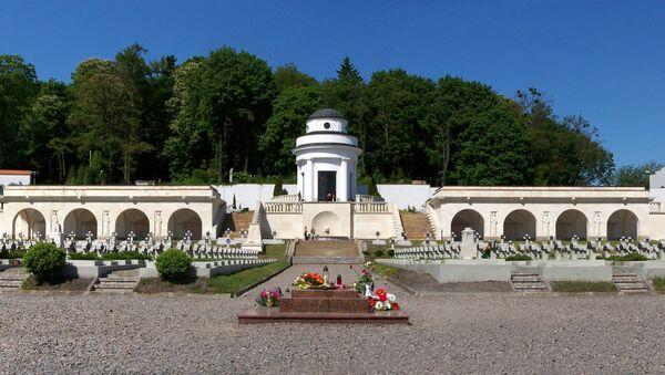 Kaplica-rotunda położona na terytorium polskiego cmentarza wojennego na Cmentarzu Łyczakowskim we Lwowie - Sputnik Polska