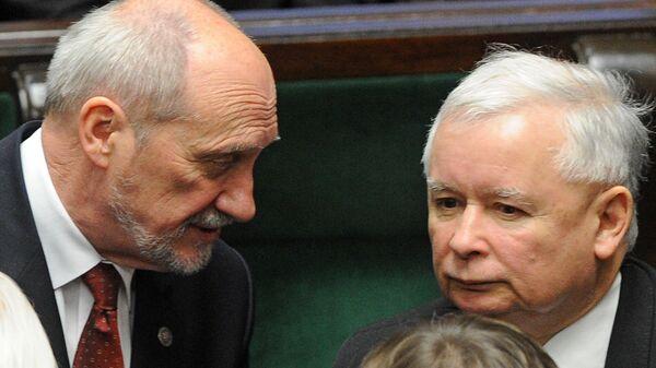 Antoni Macierewicz i Jarosław Kaczyński - Sputnik Polska