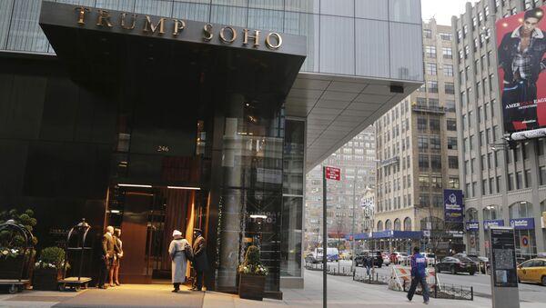 Fasada hotelu Trump SoHo w Nowym Jorku - Sputnik Polska