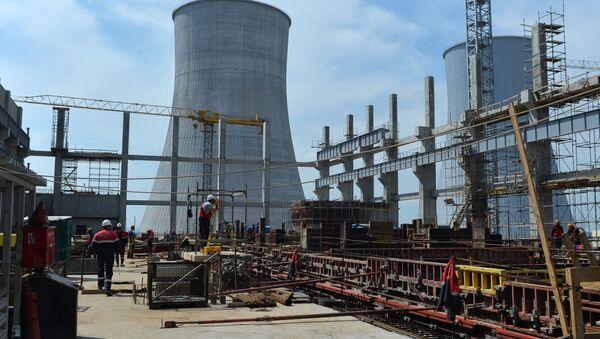 Budowa drugiego bloku energetycznego Białoruskiej Elektrowni Atomowej w pobliżu miasta Ostrowiec - Sputnik Polska