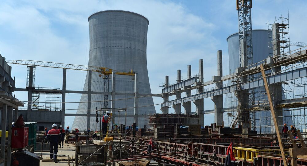 Budowa drugiego bloku energetycznego Białoruskiej Elektrowni Atomowej w pobliżu miasta Ostrowiec