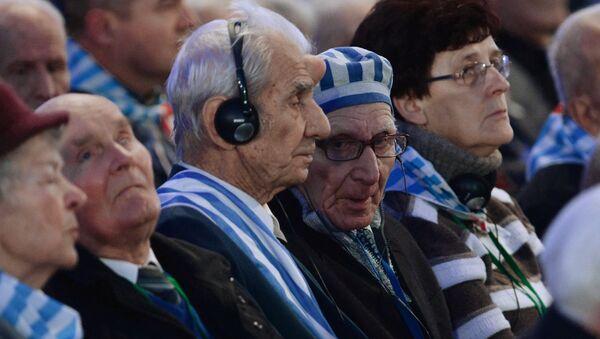 70. rocznica wyzwolenia przez Armię Czerwoną obozu koncentracyjnego Auschwitz-Birkenau, Międzynarodowy Dzień Pamięci Ofiar Holocaustu - Sputnik Polska