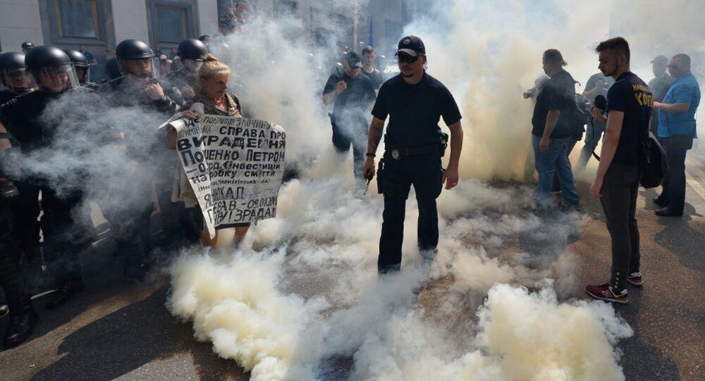 Akcja protestu w Kijowie
