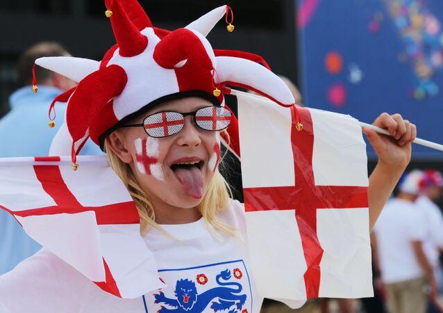 Kibic angielskiej reprezentacji w piłce nożnej
