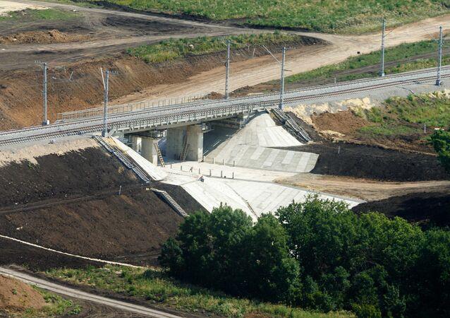 Odcinek linii kolejowej omijający Ukrainę Żurawka-Millerowo