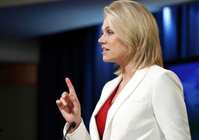 Rzeczniczka Departamentu Stanu USA Heather Nauert