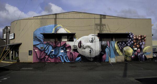 Portret kobiety australijskiego ulicznego artysty pracującego pod pseudonimem Rone, Hawaje - Sputnik Polska