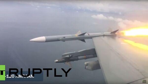 Pilot F-16 pokazał, jak zestrzelić drona za pomocą rakiety - Sputnik Polska