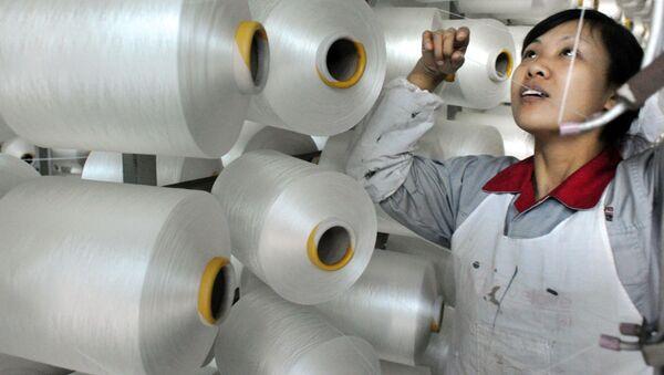 Fabryka tekstyliów w Chinach - Sputnik Polska