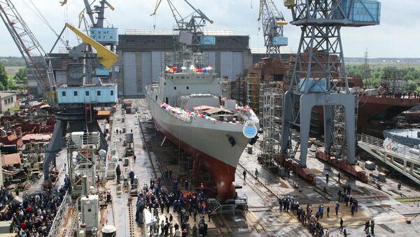 Wodowanie fregaty Trikand dla indyjskiej marynarki wojennej w Kaliningradzie - Sputnik Polska