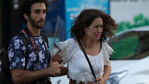 Zamach terrorystyczny w Barcelonie - Sputnik Polska