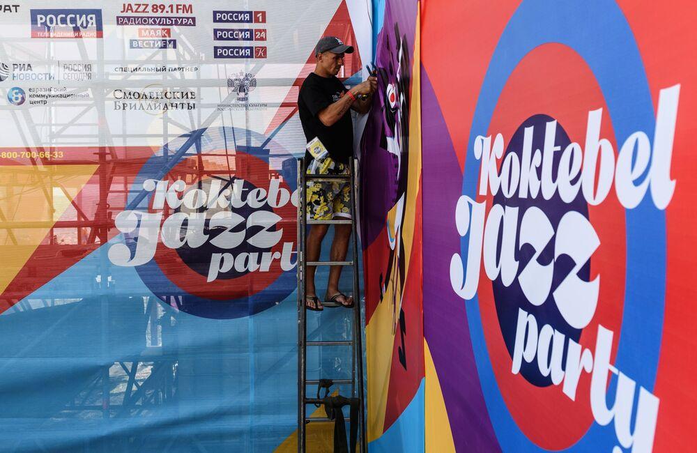 Przygotowania do 15-ego międzynarodowego muzykalnego festiwalu Koktebel Jazz Party