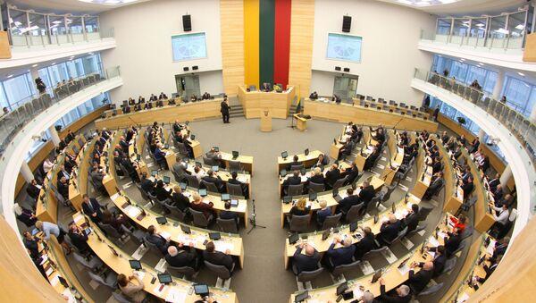 Posiedzenie w litewskim parlamencie - Sputnik Polska