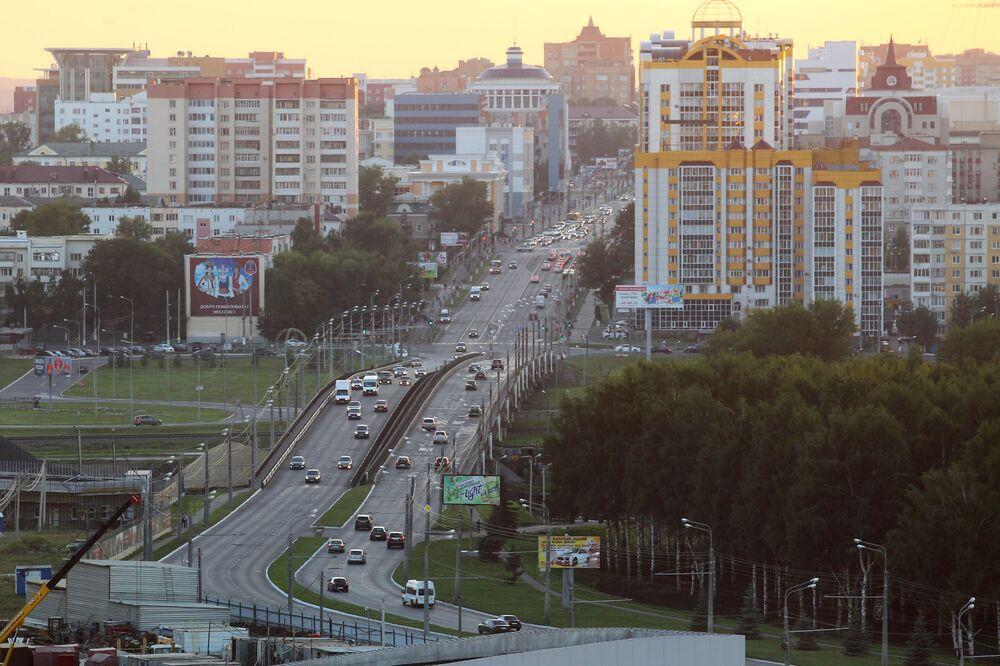 Widok na centralną część miasta Sarańsk.