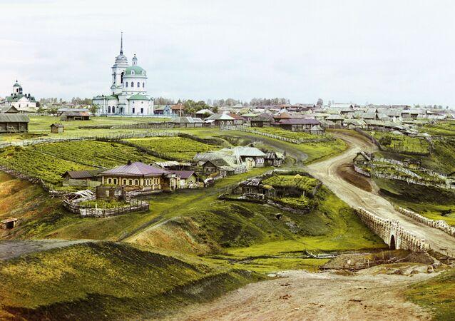 Miejscowość Kolczedan na Uralu