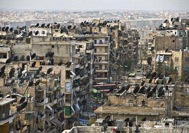 Zburzona dzielnica Aleppo