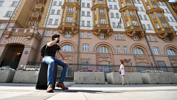 Budynek ambasady USA w Moskwie - Sputnik Polska