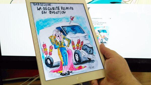 Karykatura w tygodniku Charlie Hebdo - Sputnik Polska