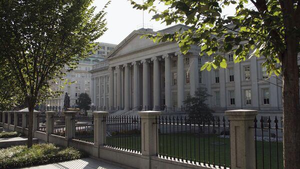 Budynek Departamentu Skarbu USA w Waszyngtonie - Sputnik Polska
