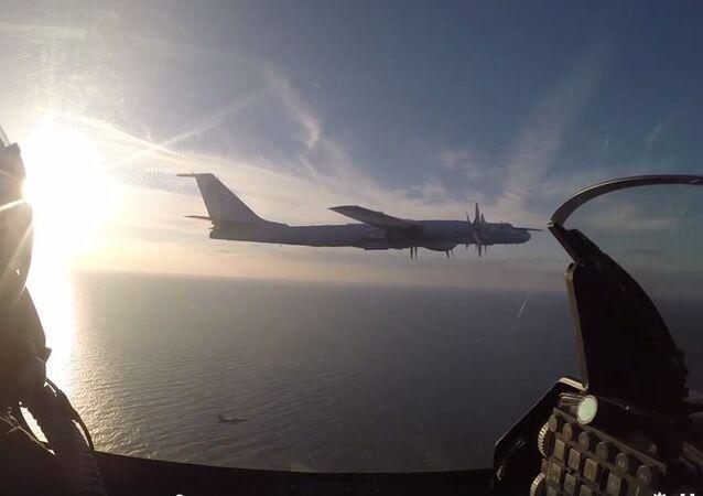 Przechwycenie rosyjskiego bombowca Tu-95 przez duńskich wojskowych nad Morzem Bałtyckim